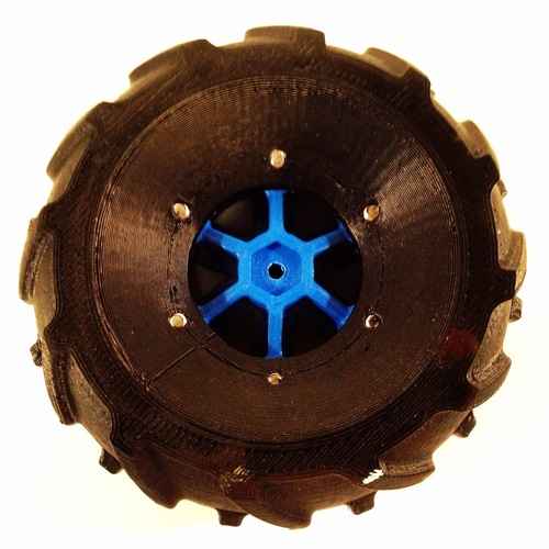 Set of wheels for OpenRC Truggy 3D Print 24709