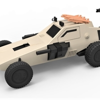 Small Diecast model Dune buggy from movie Megaforce 1982 Scale 1:24 3D Printing 247116