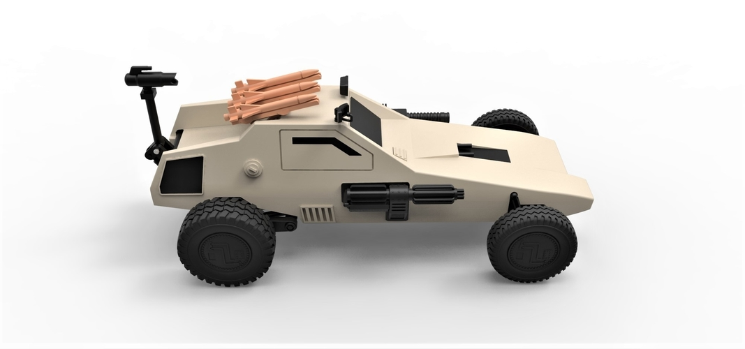 Diecast model Dune buggy from movie Megaforce 1982 Scale 1:24