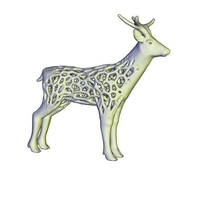 Small deer _voronoi 3D Printing 247181