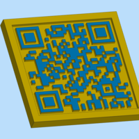 Small 3d printable QR code 3D Printing 247190
