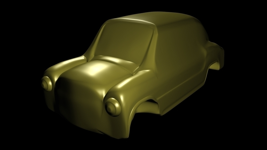 fiat 600 car toy classic argentinian 3D Print 247191