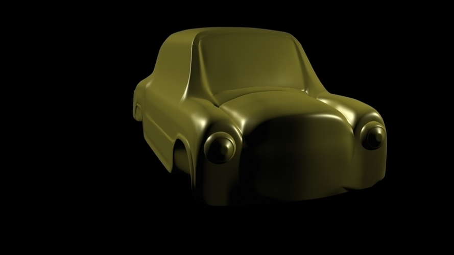 fiat 600 car toy classic argentinian 3D Print 247192