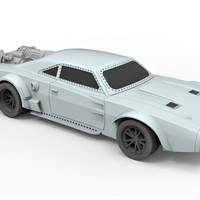 Small Diecast model Ice Charger from the movie Fast 8 Scale 1:24 3D Printing 247200