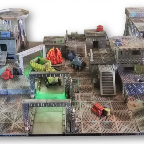 Industrial Sector Omicron - Huge Tiles Bundle  3D Print 247325