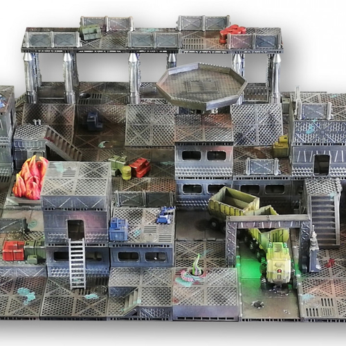 Industrial Sector Omicron - Huge Tiles Bundle  3D Print 247328