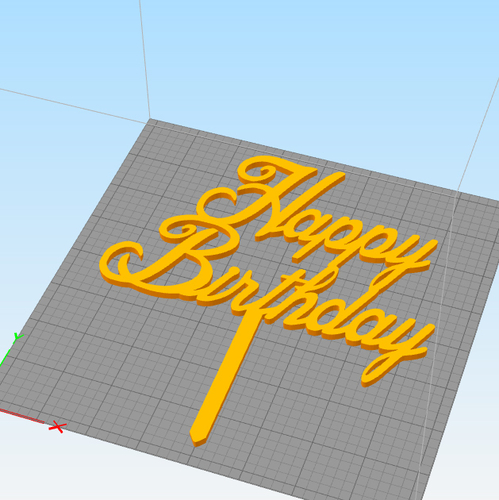 Birthday cake topper  set of 3  3D Print 247377