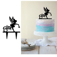 Small Birthday cake topper  set of 3  3D Printing 247378