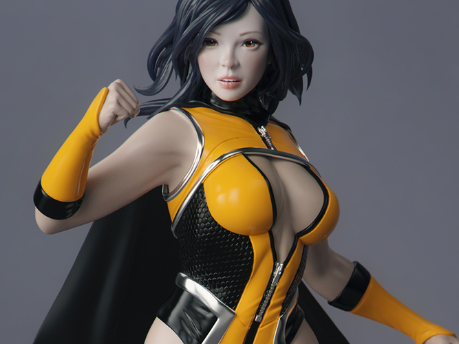 Female Superhero 3D Print 247419