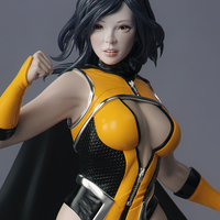 Small Female Superhero 3D Printing 247419