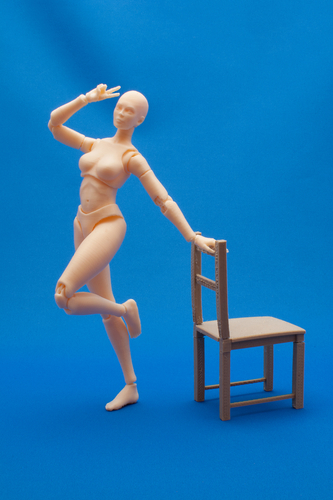 Articulated Poseable Female Figure 3D Print 247422