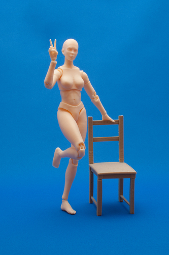 Articulated Poseable Female Figure 3D Print 247425