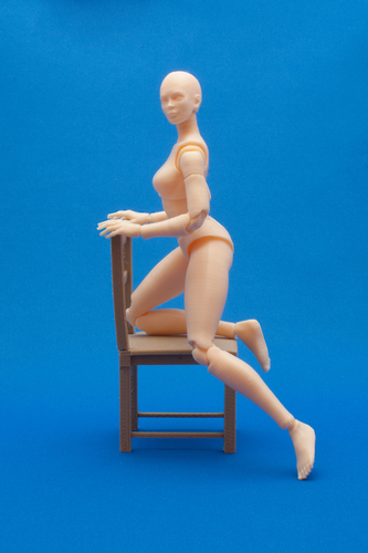 Articulated Poseable Female Figure 3D Print 247428