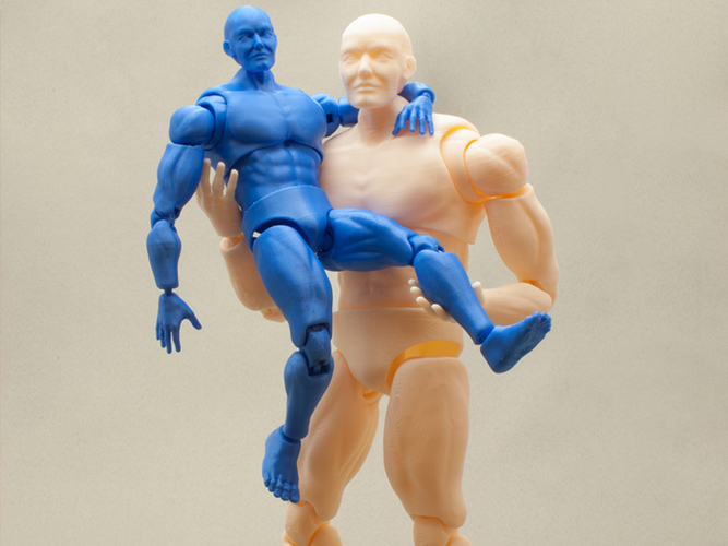 Articulated Poseable Male Figure 3D Print 247435
