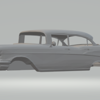 Small chevrolet bel air  4doors slot car  3D Printing 247503