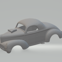 Small willys coupe slot car  3D Printing 247510