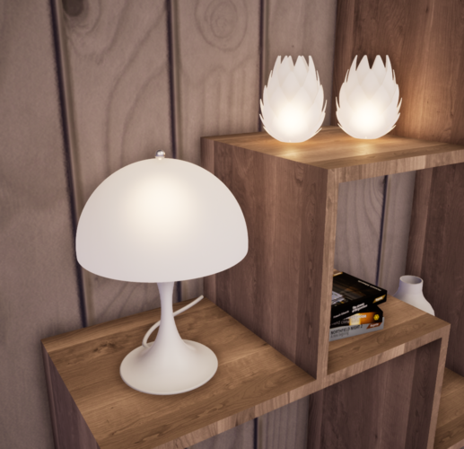 Panthella Table Lamp 3D Print 247519