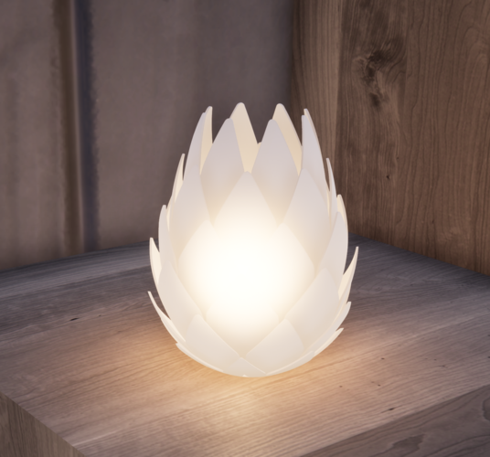 Pine Cone Tealight Candle Holder 3D Print 247521
