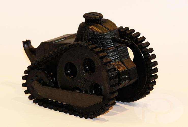 Caricature WWI toy Renault FT-17 tank 3D Print 24757