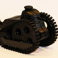Small Caricature WWI toy Renault FT-17 tank 3D Printing 24757