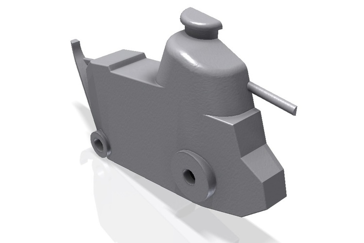Caricature WWI toy Renault FT-17 tank 3D Print 24760