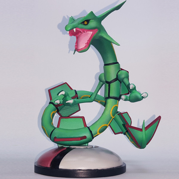 Medium POKEMON RAYQUAZA FOR 3D PRINT 3D Printing 247641