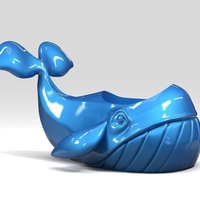 Small Whale Flowerpot 3D Printing 247744