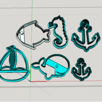 Small Sea - Marine - Naval cookies cutter 3D Printing 247820