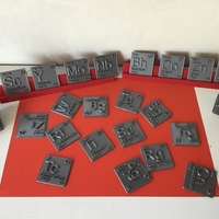 Small Periodic Table of Elements  d-block  chemistry   -  stl file 3D Printing 247880
