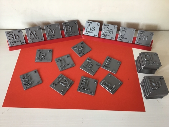 Periodic Table of Elements  p-block  chemistry   -  stl file 3D Print 247896
