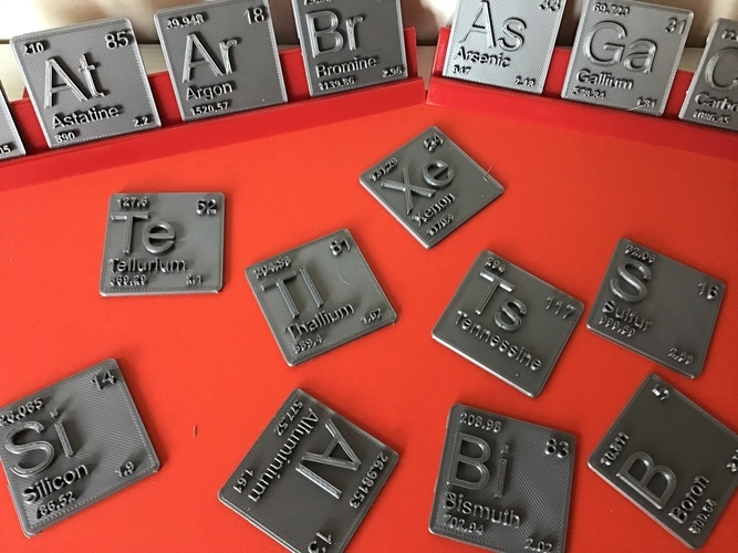 Periodic Table of Elements  p-block  chemistry   -  stl file 3D Print 247897