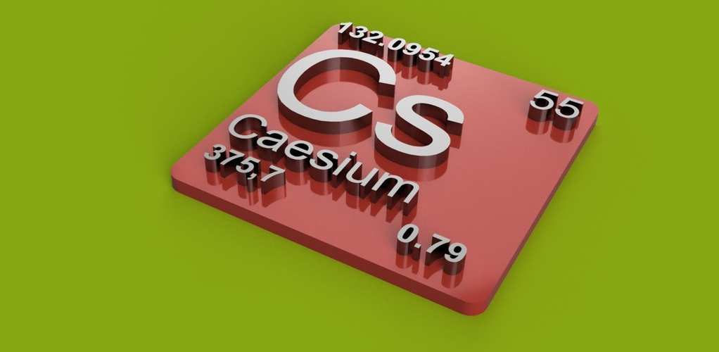 Periodic Table of Elements  s-block  chemistry   -  stl file 3D Print 247905
