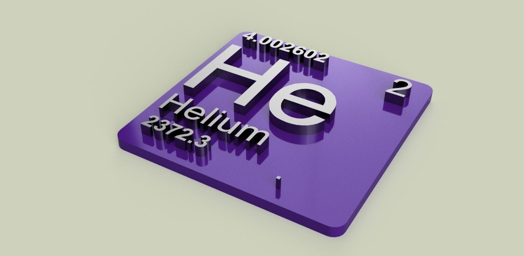 Periodic Table of Elements  s-block  chemistry   -  stl file 3D Print 247906