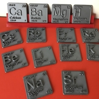 Small Periodic Table of Elements  s-block  chemistry   -  stl file 3D Printing 247908