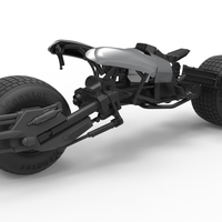 Small Diecast model Batpod from the movie The Dark Knight Scale 1:12 3D Printing 248003