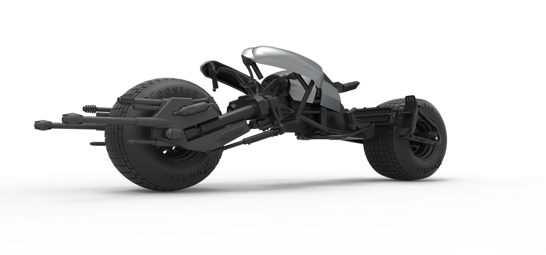 Diecast model Batpod from the movie The Dark Knight Scale 1:12 3D Print 248004