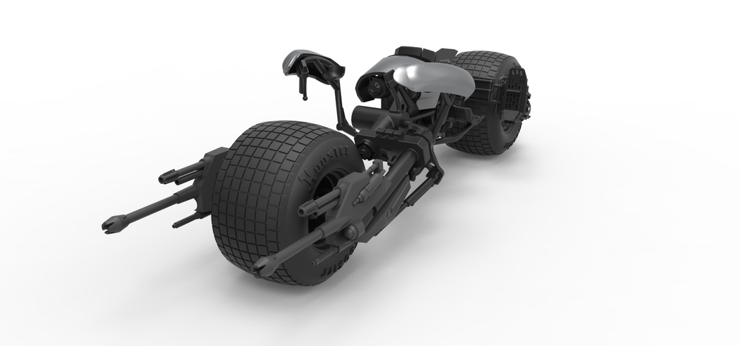 Diecast model Batpod from the movie The Dark Knight Scale 1:12 3D Print 248005