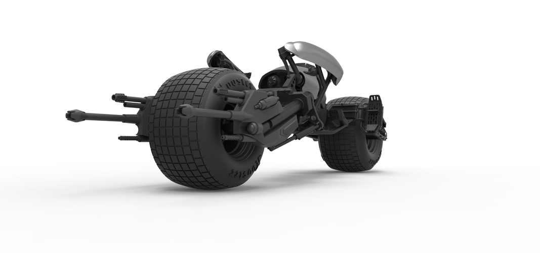 Diecast model Batpod from the movie The Dark Knight Scale 1:12 3D Print 248006
