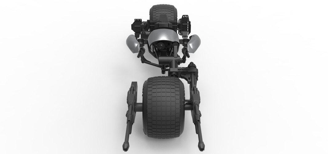 Diecast model Batpod from the movie The Dark Knight Scale 1:12 3D Print 248007