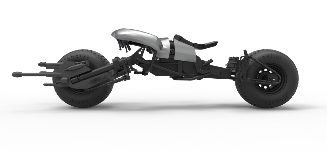 Diecast model Batpod from the movie The Dark Knight Scale 1:12 3D Print 248009