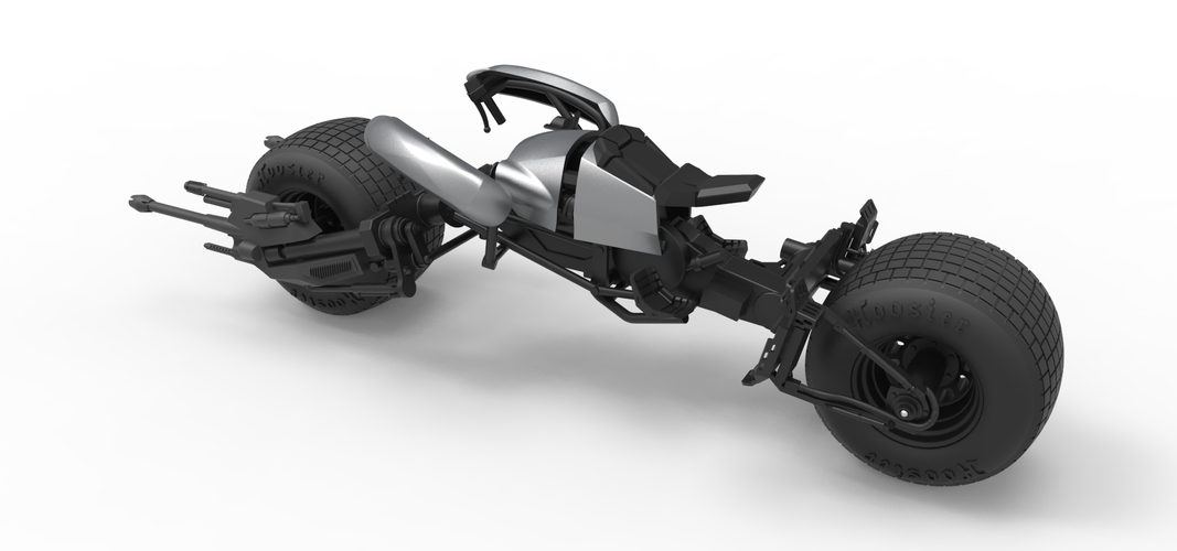 Diecast model Batpod from the movie The Dark Knight Scale 1:12 3D Print 248012