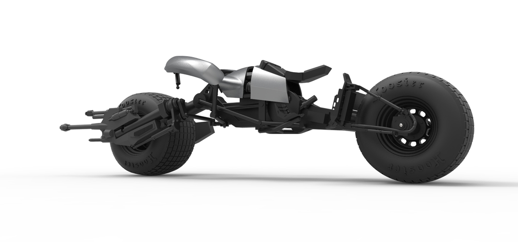 Diecast model Batpod from the movie The Dark Knight Scale 1:12 3D Print 248013