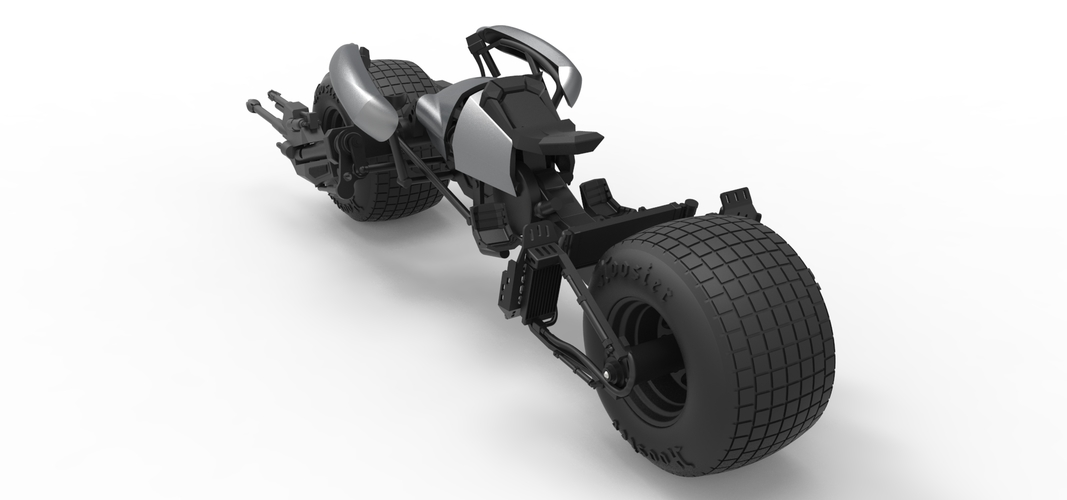 Diecast model Batpod from the movie The Dark Knight Scale 1:12 3D Print 248014