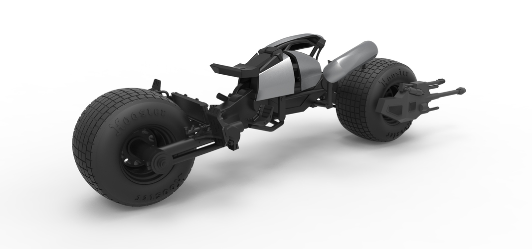 Diecast model Batpod from the movie The Dark Knight Scale 1:12 3D Print 248018