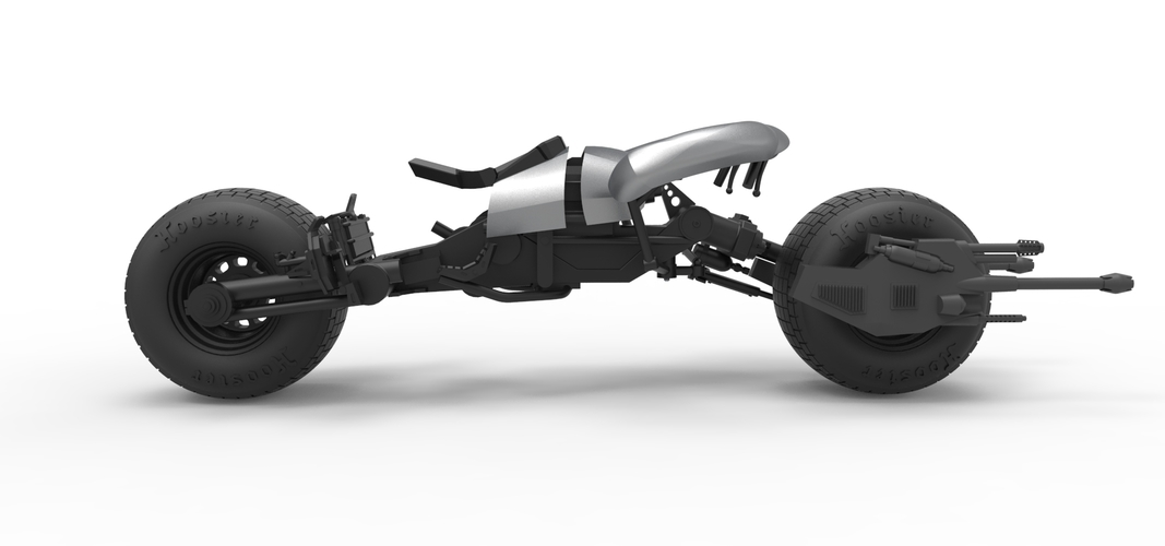 Diecast model Batpod from the movie The Dark Knight Scale 1:12 3D Print 248019