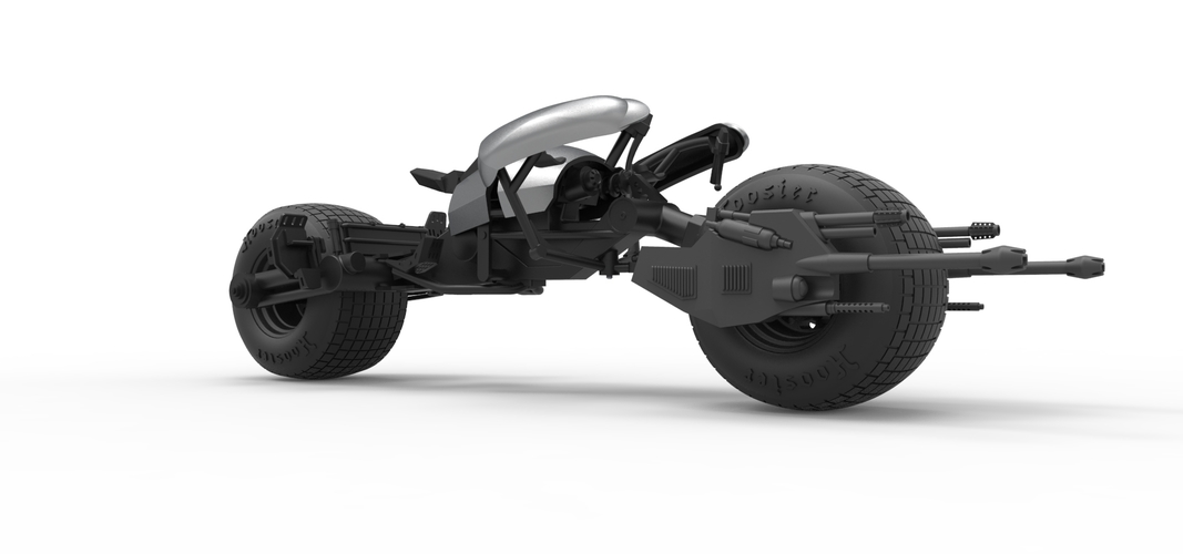 Diecast model Batpod from the movie The Dark Knight Scale 1:12 3D Print 248022