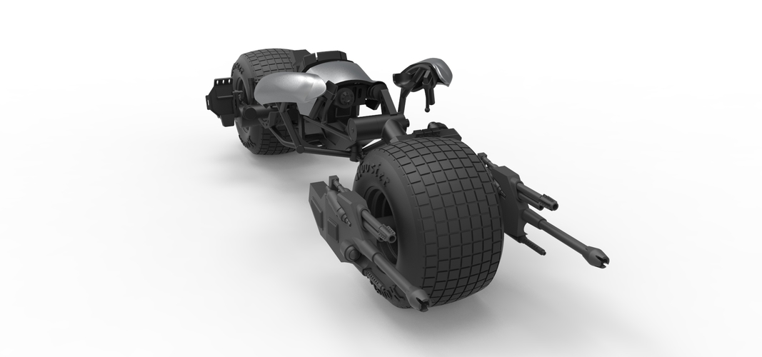 Diecast model Batpod from the movie The Dark Knight Scale 1:12 3D Print 248023