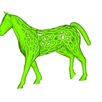 Small small voronoi horse 3D Printing 248029