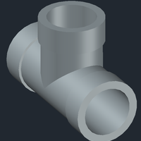 Small Tee pipe  3D Printing 248076