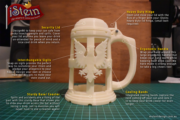 iStein Drink Caddy 3D Print 24808